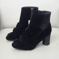 Sepatu Boots Wanita Zara Original 3153 Black Suede
