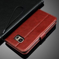 harga Leather Flip Cover Wallet Samsung Galaxy S7 Edge Case dompet kulit HP Tokopedia.com