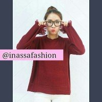 Fringe Maroon Sweater
