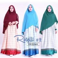 harga Gamis Rotelli2 Set Syari Ori Nawa Longdress Maxi + Khimar Jumbo Tokopedia.com