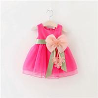 Baju Bayi Perempuan / Dress Pesta Anak Bayi Perempuan Pink / HF100