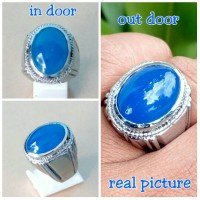 harga Siap Boming !! Cincin Batu Akik Spirtus/ Biru Langit Chalsedony Tokopedia.com