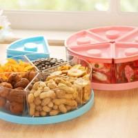 Toples Kue Kotak Snack Permen 5 Sekat Tutup Kedap Udara Organizer Box