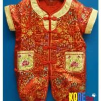 Cheongsam Baby Imlek Xincia Jumper Bayi Tahun Baru Cina Set +Topi