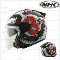 HELM NHK REVENTOR 88 DOUBLE VISOR (WHITE RED)