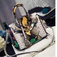 Tas Import Croco Snake Skin Handbag BUKAN Hermes Birkin Snakeskin