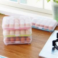 Box Telur 15 Sekat Egg Organizer Rapi Dan Tidak Mudah Pecah