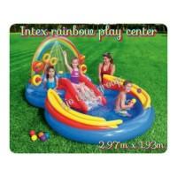 kolam air semprot intex rainbow ring play center 2.97m x 1.93m x 1.35m