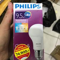 LAMPU PHILIPS LED 9W 9 W SCENE SWITCH 2 WARNA WARNA PUTIH/KUNING
