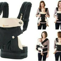 Gendongan Ergo Baby 360 Black & Camel