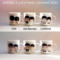 Mug Ajaib / Magic Mug Love Lifetime untuk Couple