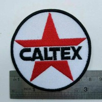 Caltex Oil Petral Motor Racing Speed Way Patch Embroidered Jacket