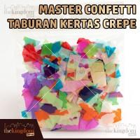 Master Confetti Taburan Kertas Crepe / Konfeti Krep