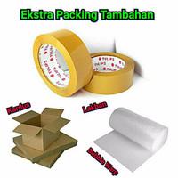 Packing Ekstra Aman ( Lakban + Bubble Warp + Kardus )