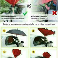 Payung Terbalik Reverse Umbrella Gagang C Kazbrella