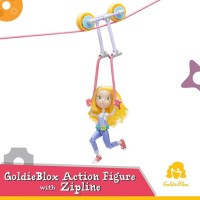 GoldieBlox Action Figure and the Zipline