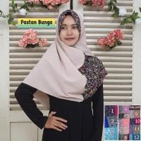 Jual Jilbab Pashmina Instan Bunga Murah