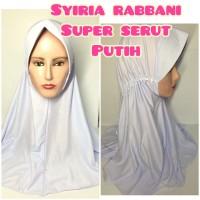 jilbab hijab kerudung syiria rabbabi rabani super serut putih