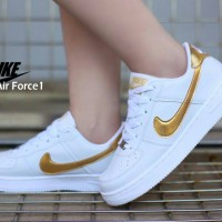 Nike Air Force 1 Low White List Gold