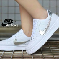 Nike Air Force 1 Low White List Silver