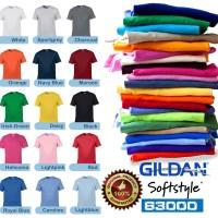 Jual Kaos Gildan Softstyle Polos Tanpa Jahitan Samping Hitam Combed 30s Murah