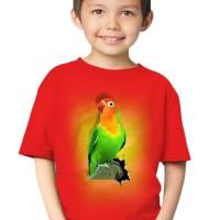 harga Kaos 3d Elengant Murah Kids Burung Love Bird Fold Merah Orange Pink Tokopedia.com