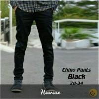 Jual CELANA CHINO celana panjang pria celana formal chinos panjang HITAM Murah