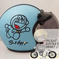 Helm Bogo Doraemon / Cute / Animasi / Blue
