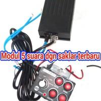modul sirine 5 suara (whelen rakitan) untuk mobil/motor