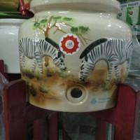 harga Guci Air/Guci Galon/ Guci Keramik Motif Emboss Tokopedia.com