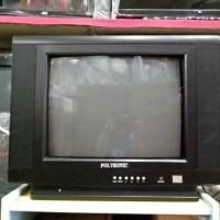 "tv tabung televisi tv polysonic 14 inch 14"" murah meriah hitam"