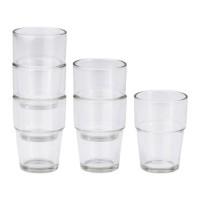 IKEA REKO Gelas / Cangkir / Mug Minuman, isi 6pcs, 17 cl, Kaca Bening.