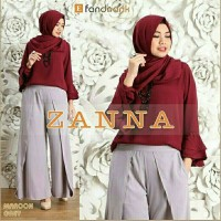 asd setelan st hijab muslim zanna set maroon / baju wanita maxi