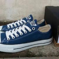 Sepatu Converse All Star OX Canvas Blue Low Unisex Premium BNIB Indo