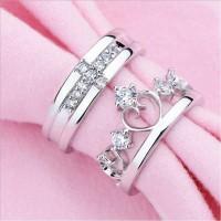 cincin Kawin palladium, nikah, sepasang, couple, emas, perak, R101