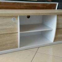 RAK TV LEMARI TV MINIMALIS TANPA HANDLE SCANDINAVIAN IKEA PUTIH WHITE