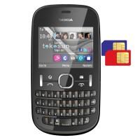 Nokia Asha 200 - Hitam / Black Dual Sim QWERTY