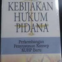 harga Buku Bunga Rampai Kebijakan Hukum Pidana: Perkembangan Penyusunan Tokopedia.com