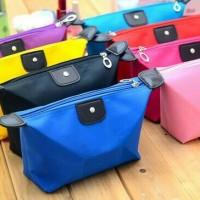 Dompet Kosmetik Bahan Longchamp / Tas MakeUp Kecil Wanita Cosmetic Bag