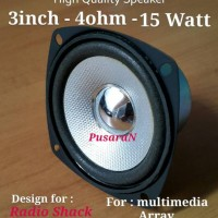 Speaker 3 inch - 4 ohm/ 15watt w/magnetic shield Loudspeaker