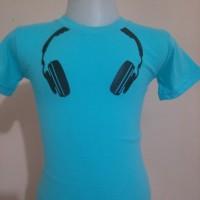 Kaos Sablon Anak Headphone