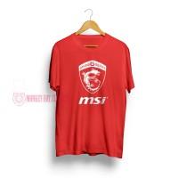 T-SHIRT / KAOS MSI RED WHITE 0703 - DEAR AYSHA
