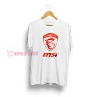 T-SHIRT / KAOS MSI WHITE RED 1103 - DEAR AYSHA
