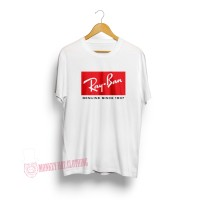 T-SHIRT / KAOS RAY BAN WHITE 0803 - DEAR AYSHA