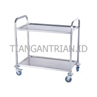 Trolley Stainless Hotel/ Trolley Makanan 2 susun Restaurant