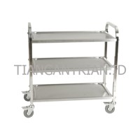 Trolley Service Stainless Hotel/ Trolley Makanan 3 susun Restaurant
