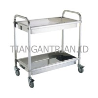Trolley Service Stainless Hotel/ Trolley Makanan 2 susun Restaurant