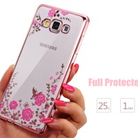 Casing Cover HP SAMSUNG J7 (2015) & J7 (2016) FLOWER DIAMOND CASE