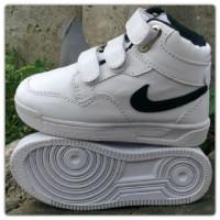 Sepatu Anak Perempuan Wanita Laki Nike Boot Putih Sekolah Dan Casual