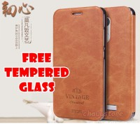 Case Original Mofi Leather Flip Cover Xiaomi Redmi Note 3 Pro Vintage